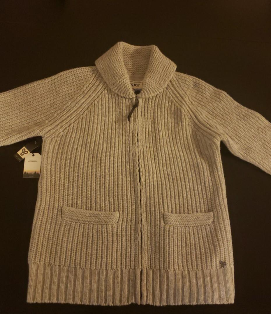 ARITZIA TNA Tahoe Sweater/Cardigan in Colour Heather Dovetail Size Large
