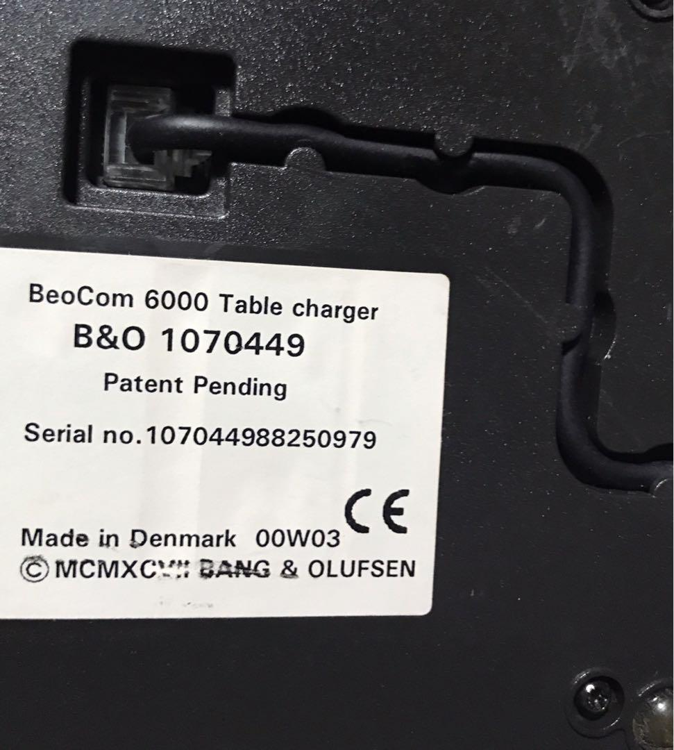 Beocom 6000 Table Charger