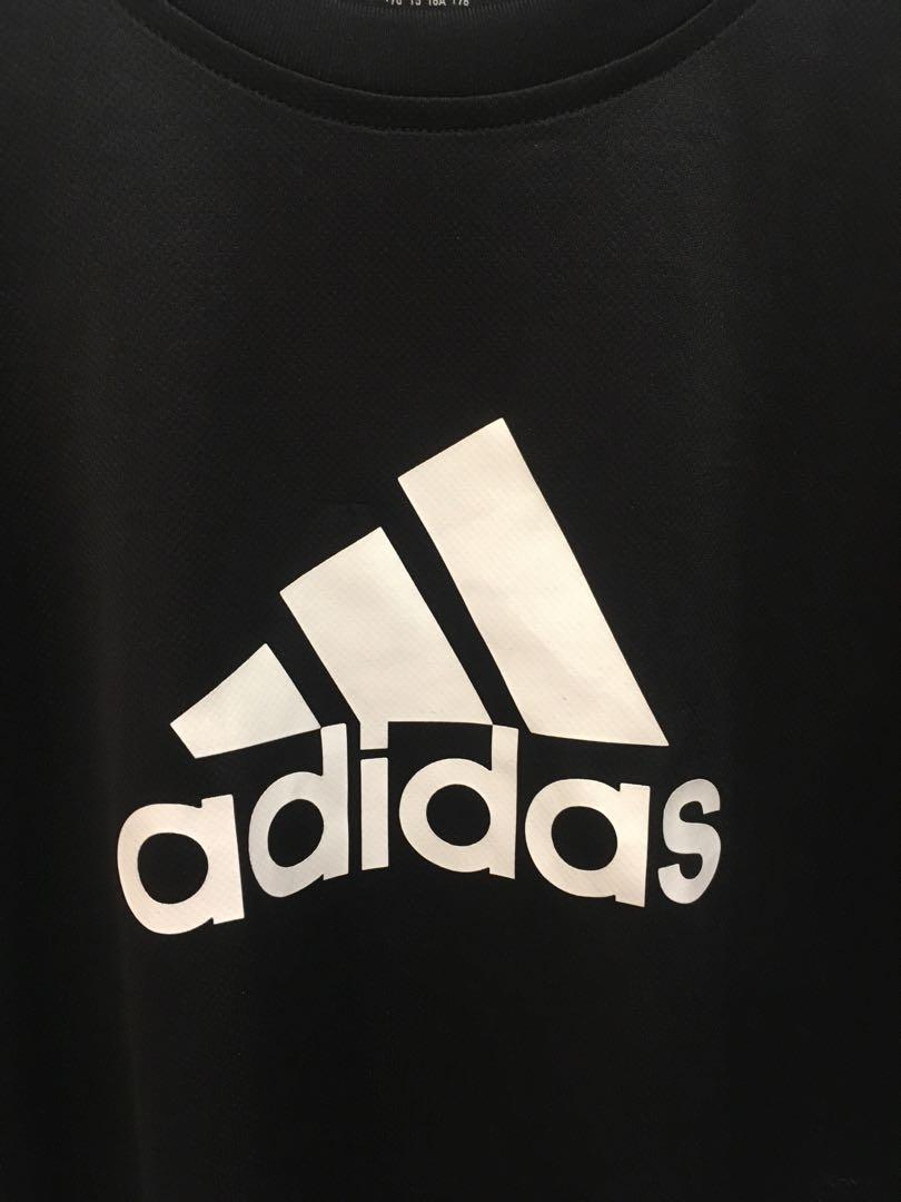 BLACK ADIDAS ATHLETIC TEE