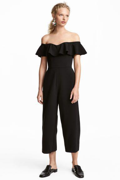 shopping competitive price special section Brand New Black Off-the-Shoulder Jumpsuit from H&M UK ...