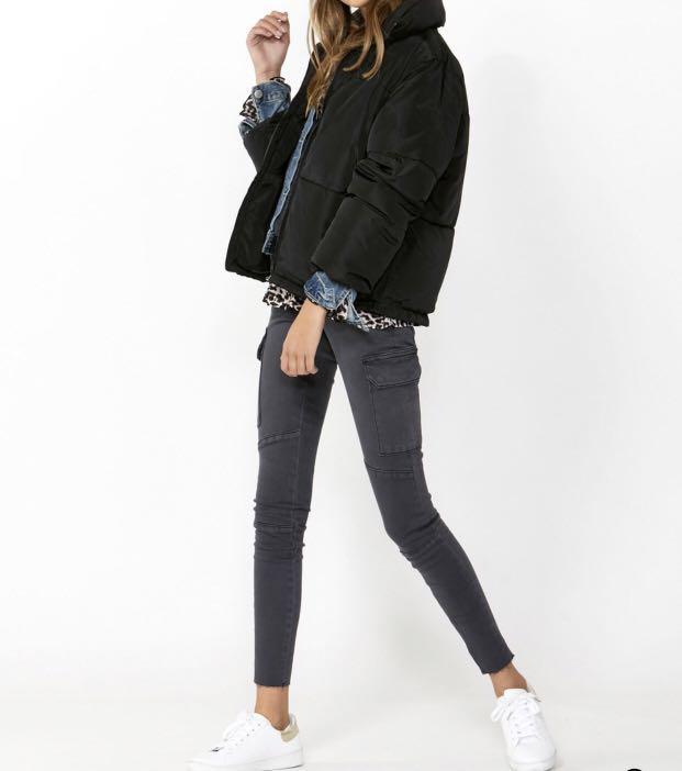 Brand New without Tags Grey Decjuba  Skinny Cargo Jeans