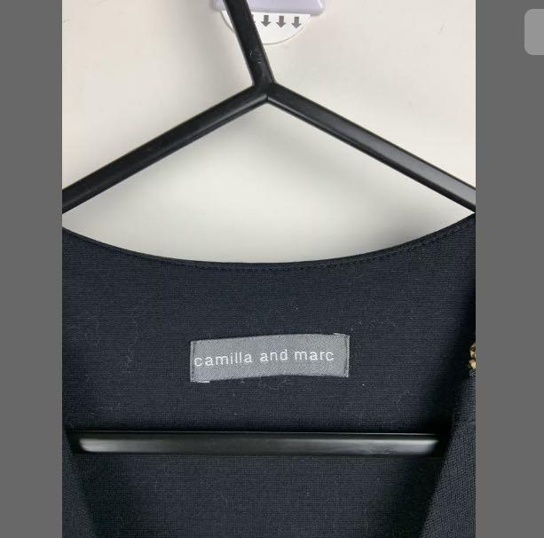 Camilla and Marc sz 8 black basic short dress designer high end smart casual