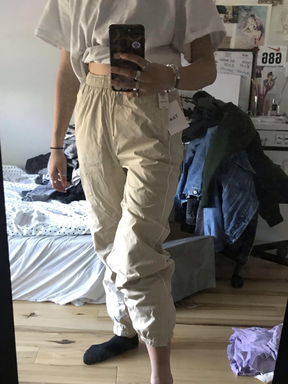 Cream TNA track pants