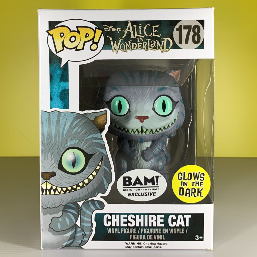 Funko Pop! BAM Exclusive #178 Cheshire Cat (Movie) (Glow in the Dark)