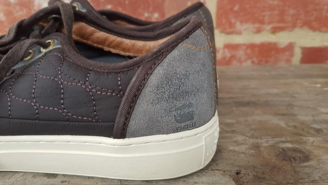 G-Star Raw Canvas & Suede Brown Sneakers 10US Mens FREE POST