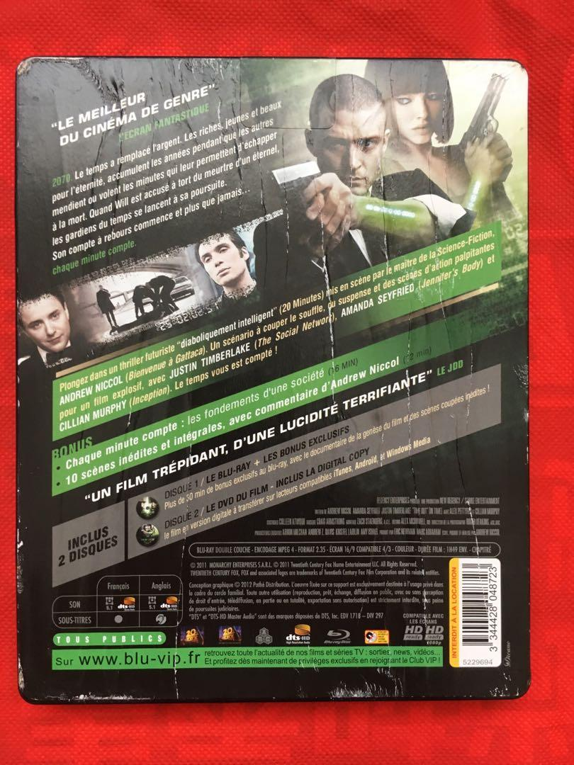 In Time (2011) Blu-ray Disc Region Free Steel book Limited