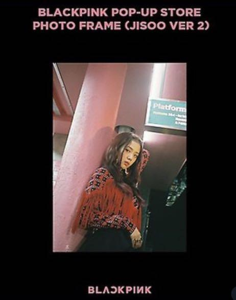 JISOO blackpink pop up store limited edition official poster