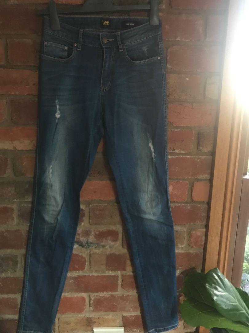 Lee Mid Rise Skinny Jeans
