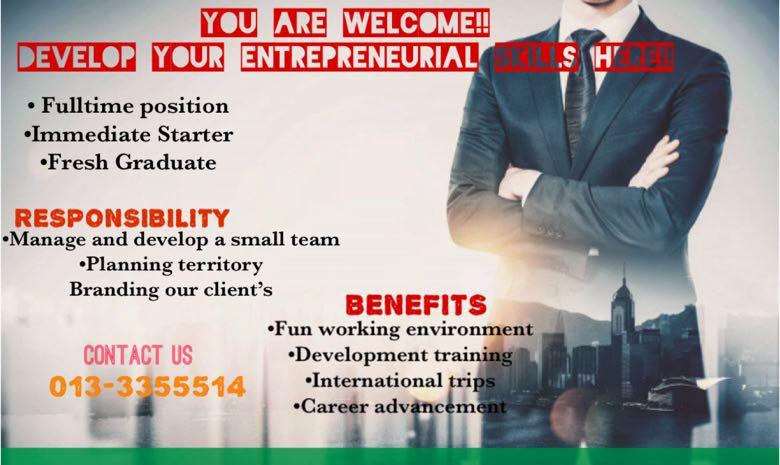 Business and Entrepreneurship Development Job (Bussines And Development)