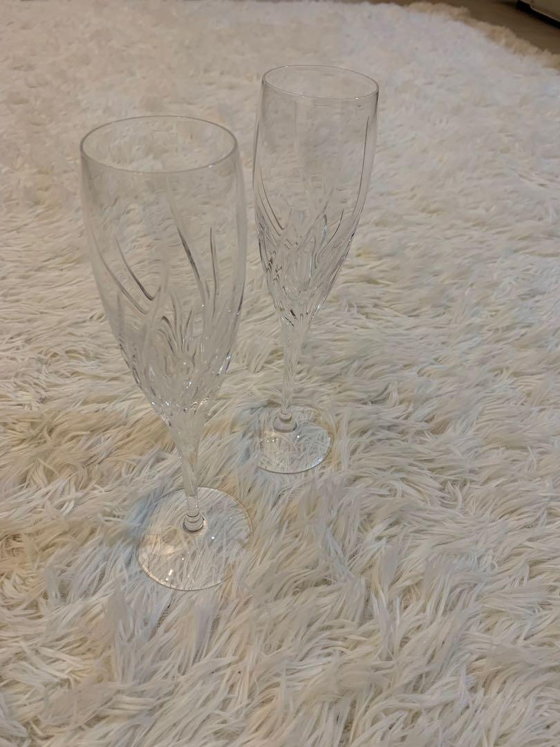 Marquis by Waterford Crystal Summer Breeze Champagne Flutes