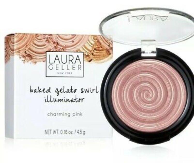 New Laura geller baked gelato swirl illuminator in charming pink