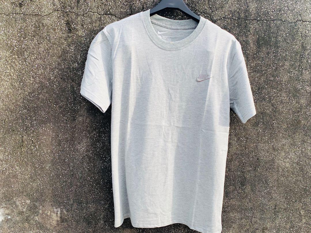 Nike刺繡小標 素Tee 灰色 S/L