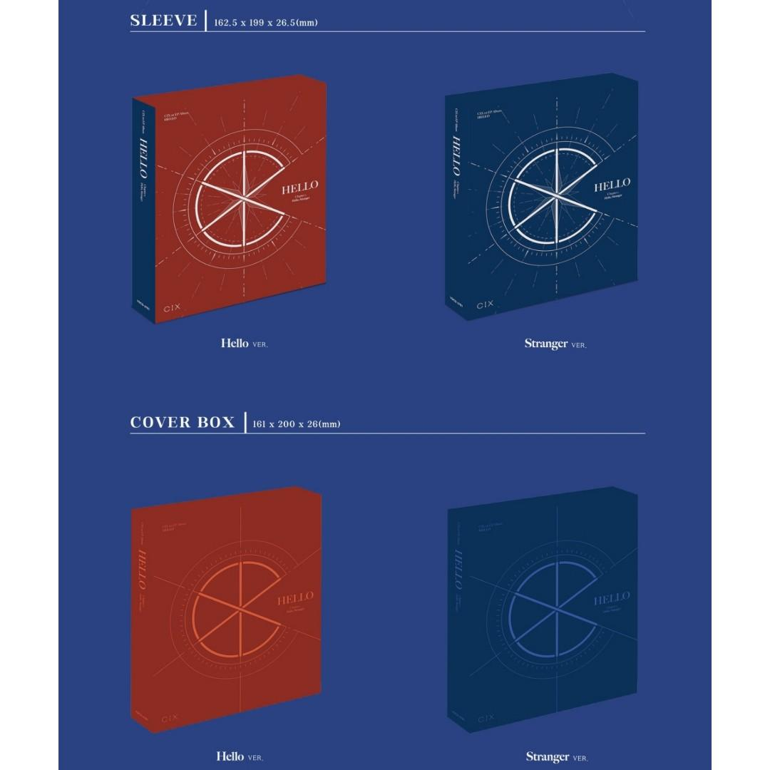 [PREORDER] CIX Debut Album HELLO CHAPTER 1 - HELLO STRANGER