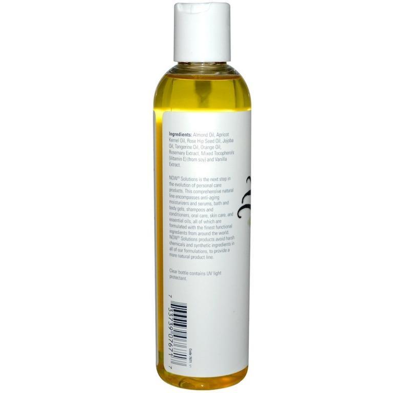 [Ready Stock] Now Foods Solutions Refreshing Vanilla Citrus Massage Oil 237ml