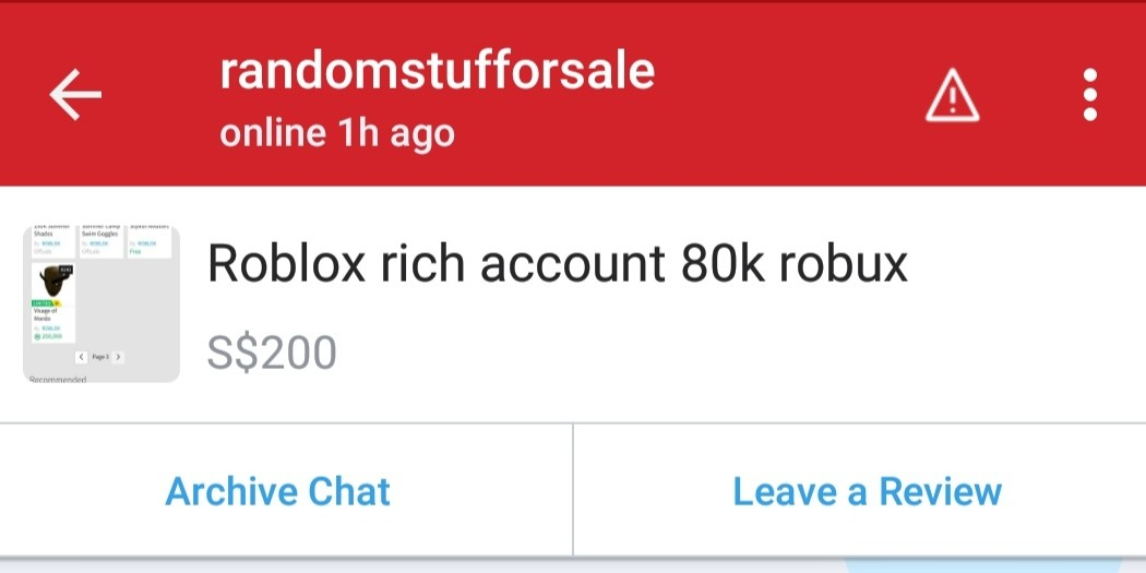 Roblox best account in carousell, creepy guy