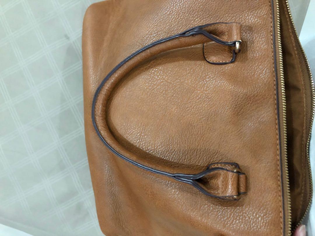 Stradivarius Bag Tas Leather Brown