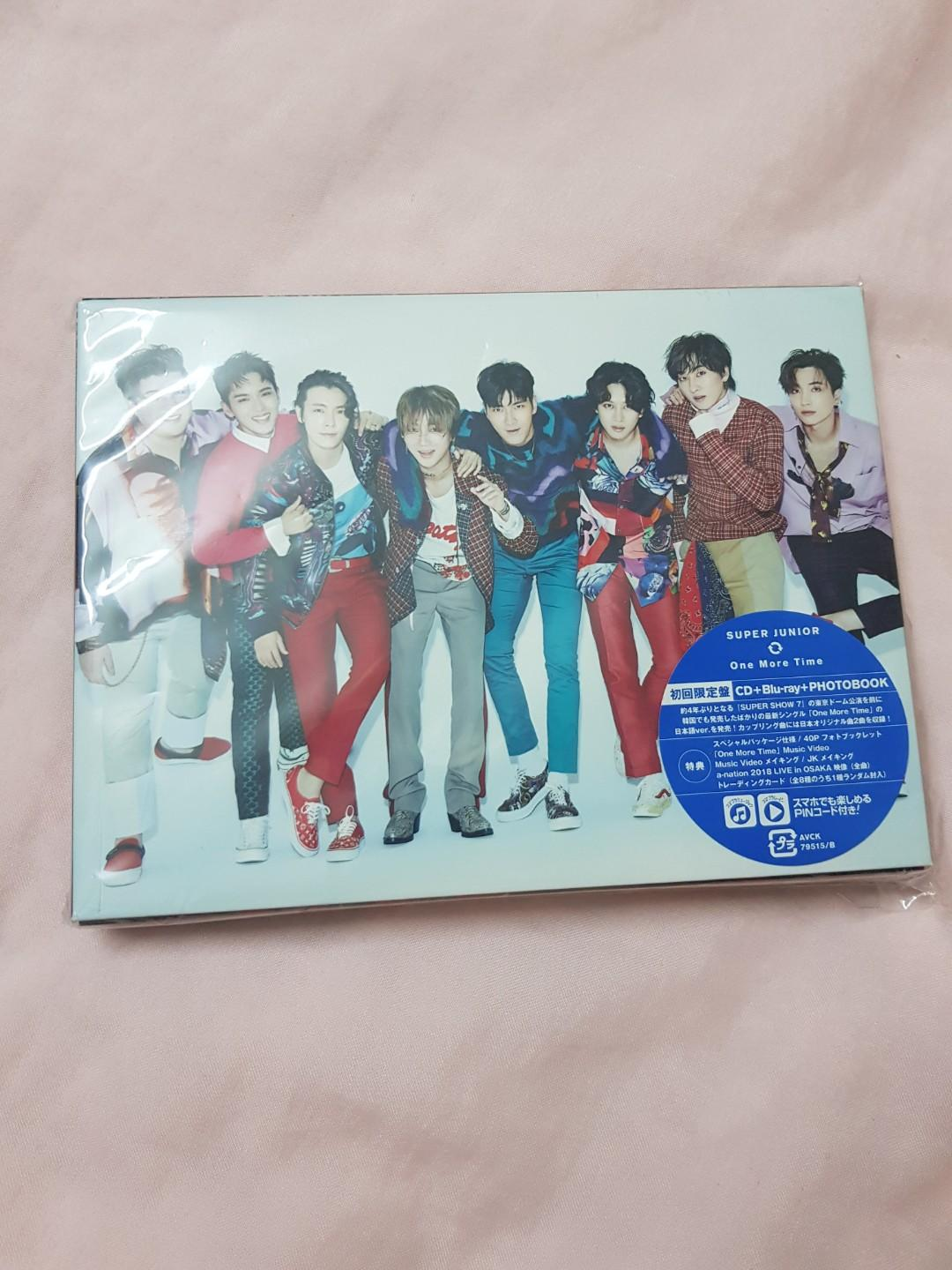 Super Junior - ONE MORE TIME  (CD + blu-ray + photobook + photocard +bookmark) 特典