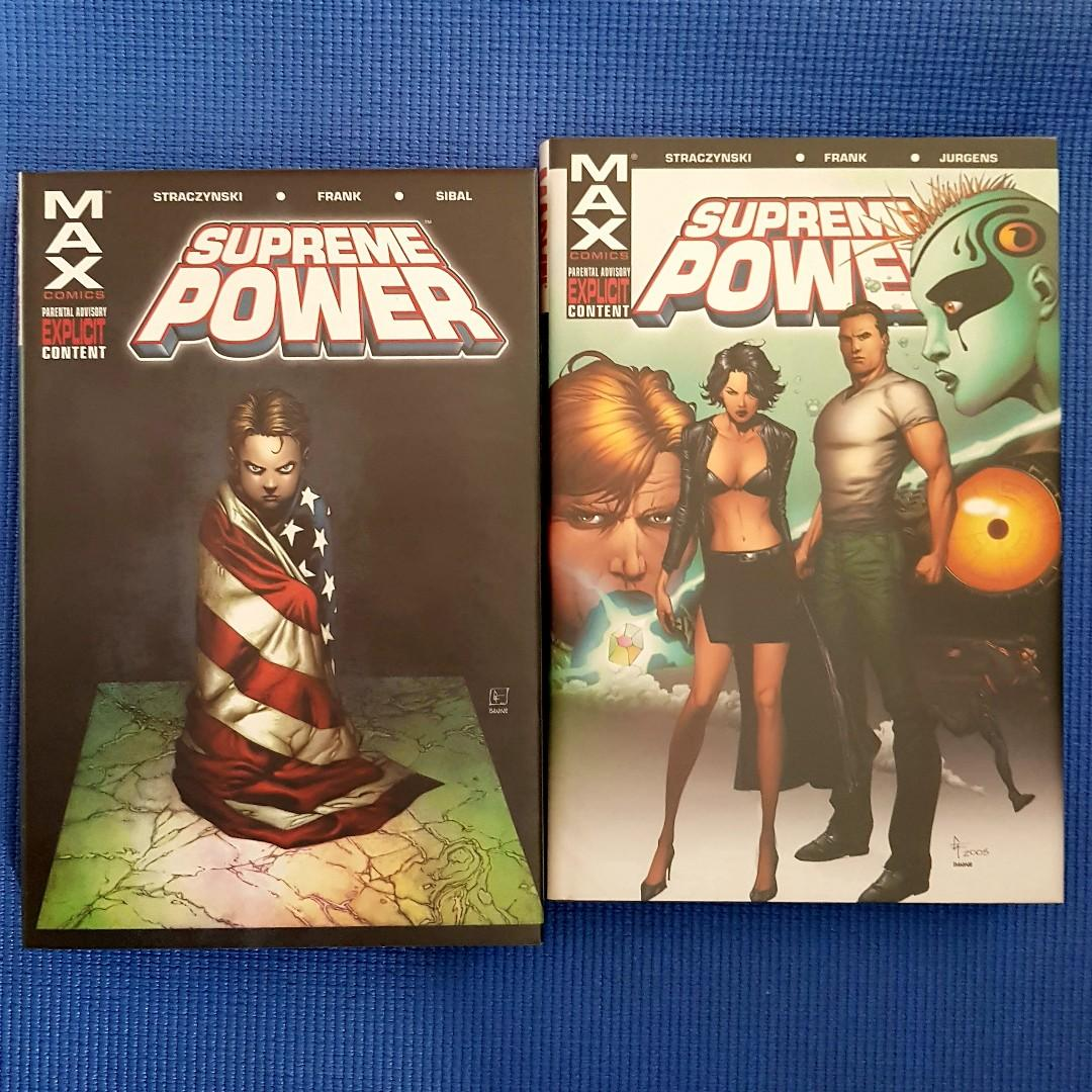 SUPREME POWER VOL. 1 & 2 by J. Michael Straczynski (MARVEL MAX) DELUXE HARDCOVERS