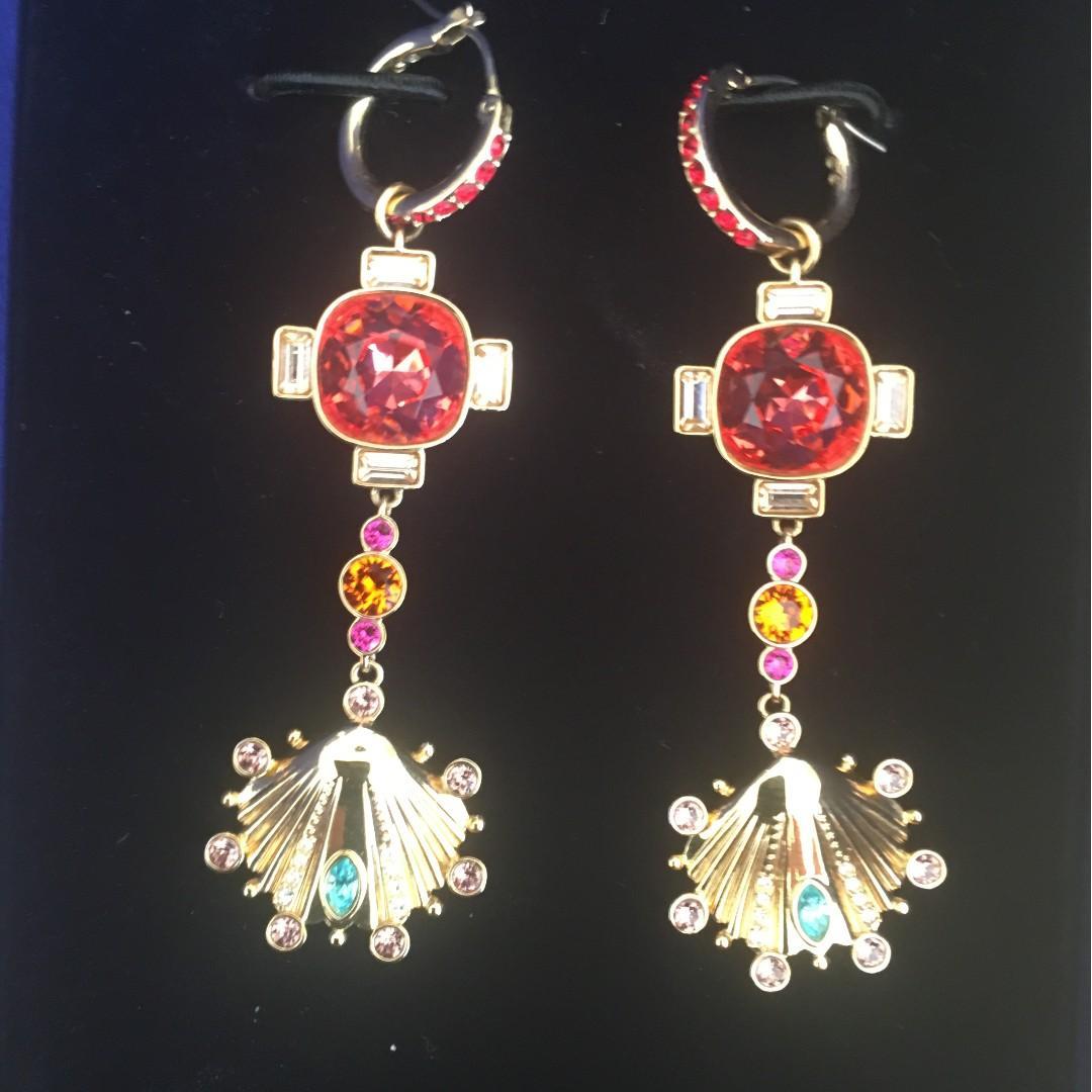 Swarovski Lucky Goddness Set Earrings+ Necklace NEW!