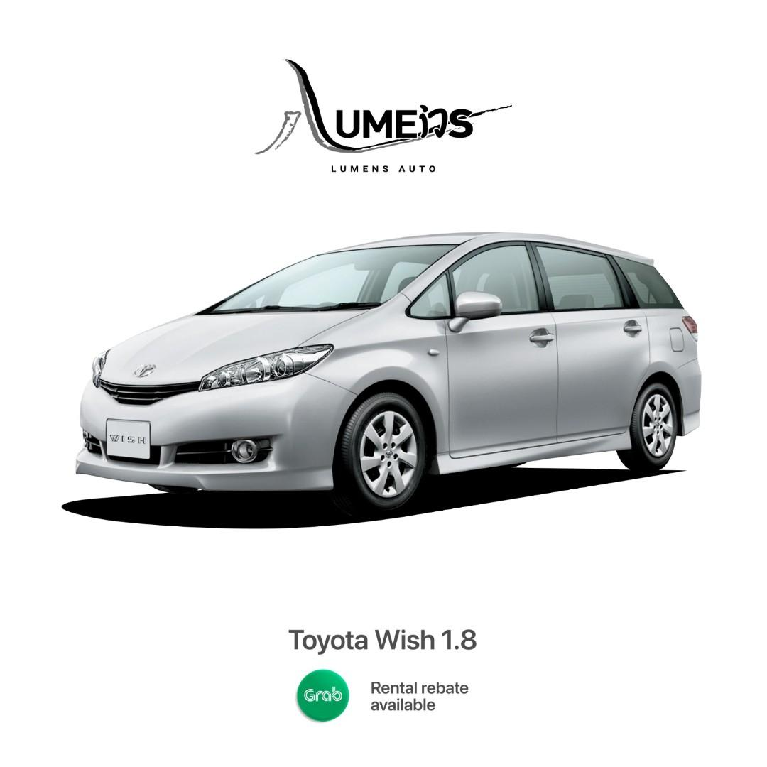 Toyota Wish (New facelift)  Eligible for Grab / PHV / Personal Use