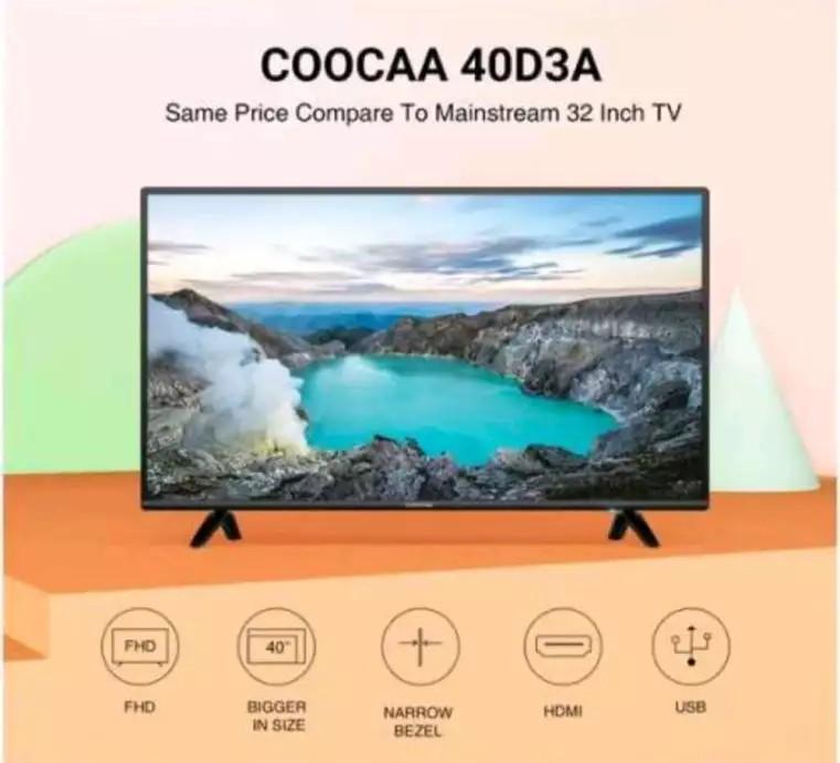 TV coocaa ukuran 40 inch baru bisa bayar ditempat