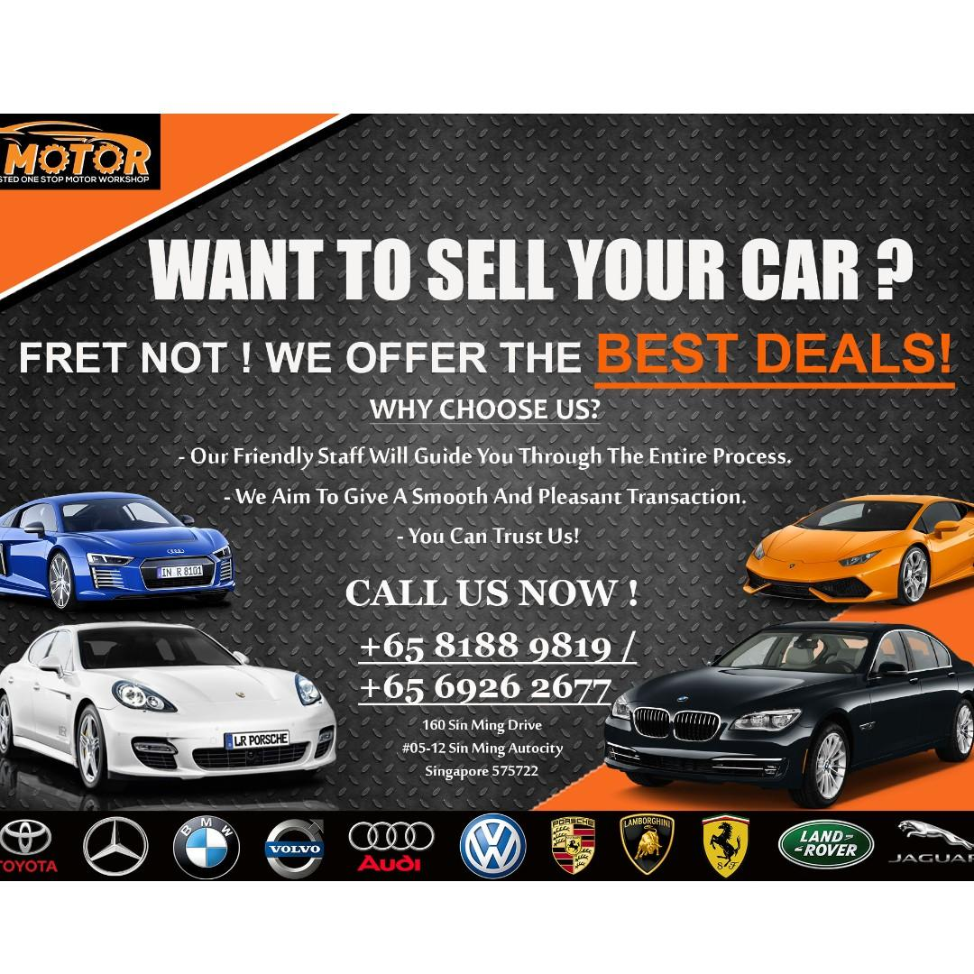 Want to sell your car? Contact +65 8666 2828 / +65 81889819 for more information.