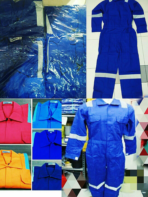 Wearpack keselamata n kerja tersedia size XL,L,xll varian warna biru ,biru BCA,Dongker,merah