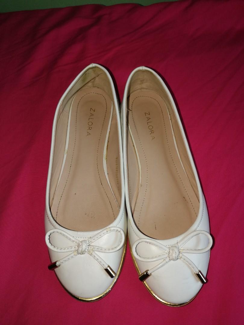ZALORA Ballerina White Shoes