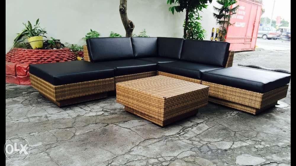 Outdoor Rattan Sofa Set Corner