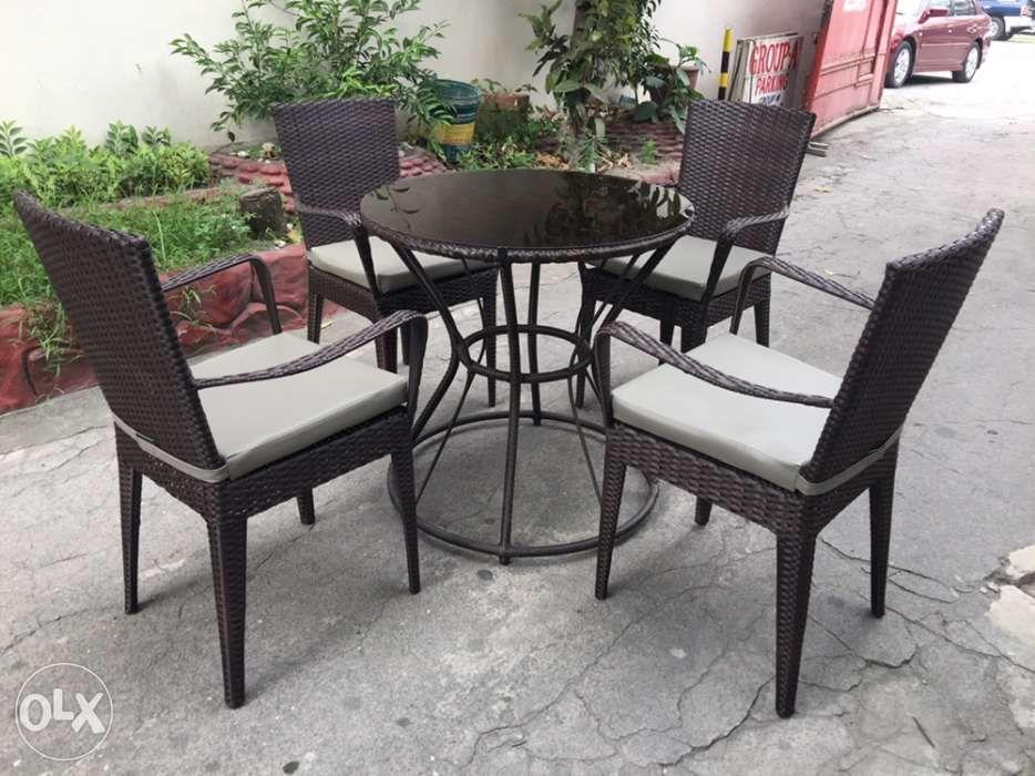 Outdoor Rattan Furniture Chairs And Table 4 Seater Garden Home Furniture Home Tools And Accessories On Carousell