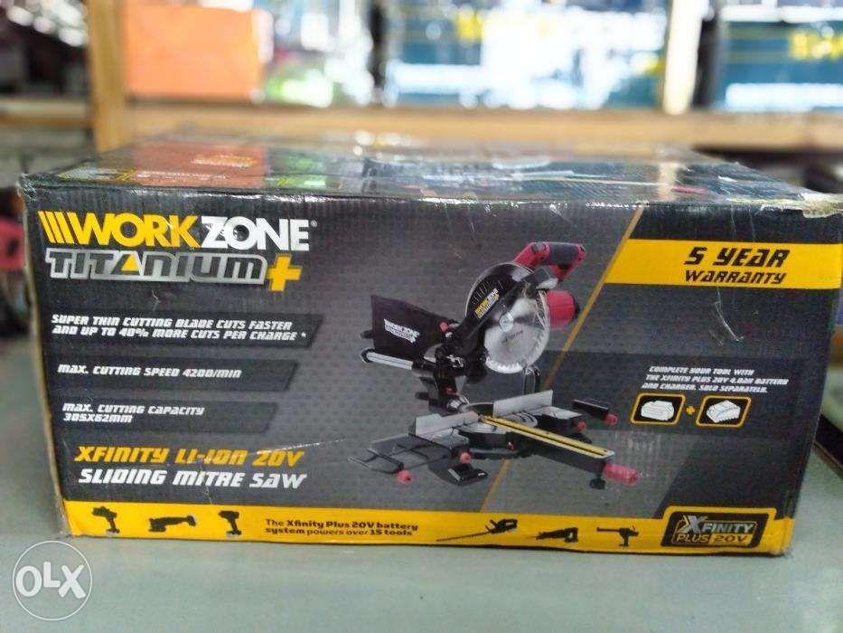 Workzone titanium 20v Cordless sliding miter saw on Carousell