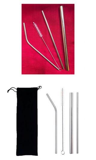 Stainless straw silver