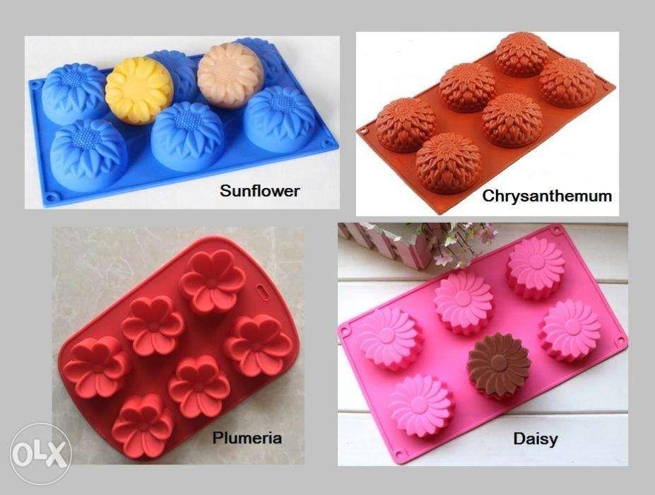Flower Sunflower Daisy Plumeria Soap Making Silicone Mold Molder on