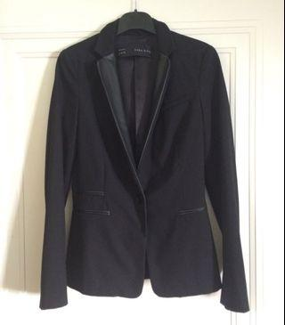 Blazer with leather collar, Zara, size XS