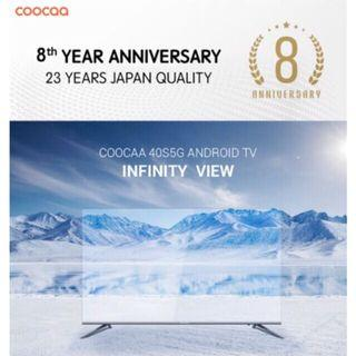 NEW SMART TV COOCAA 40S5G ANDROID 8.0 2018