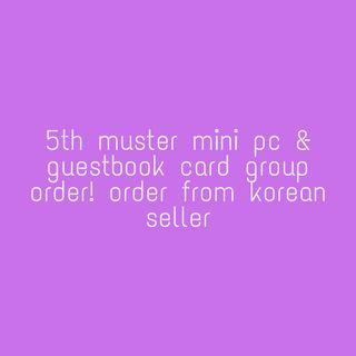 [GO] BTS 5TH Muster Mini PC & Guestbook Card