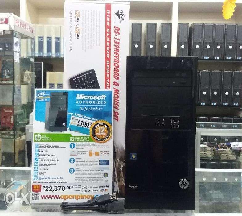 HP Pro 3300 MT Core i73770 340GHz Desktop on Carousell