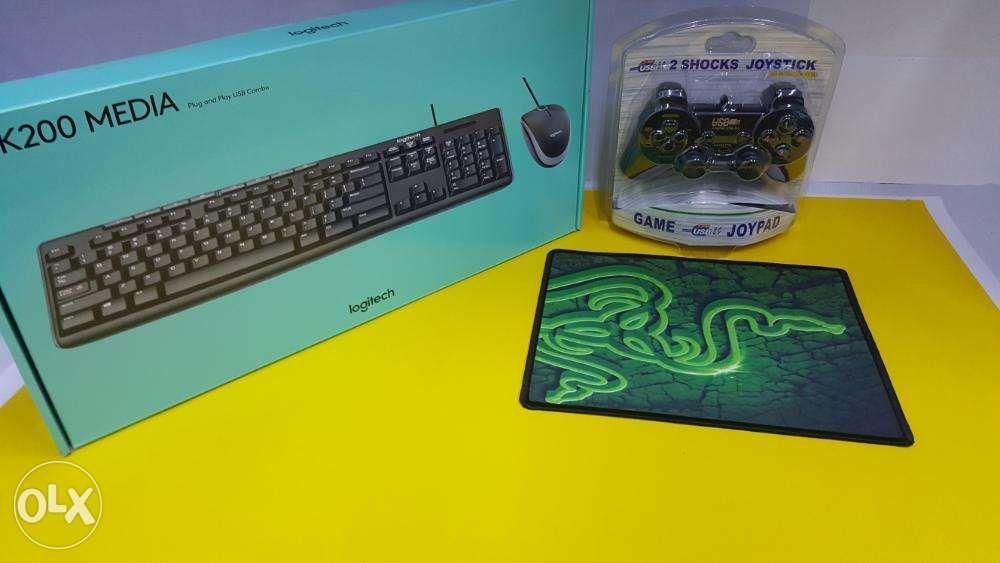 Logitech MK200 Wired Combo Mouse and Keyboard - PC USB 2 0