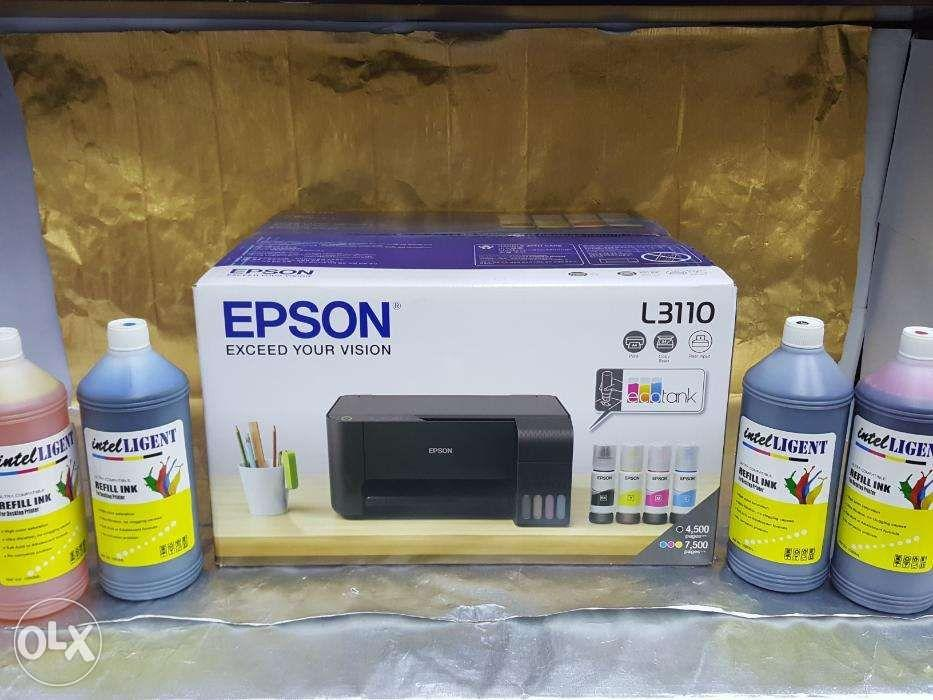 L3110 Print Scan Copy EPSON with Intelligent 1000ml Bottled INK CMYK