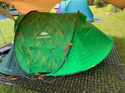 3人迪卡儂快速帳篷 Quechua 2 seconds 3 air (camping) 露營或登山利器