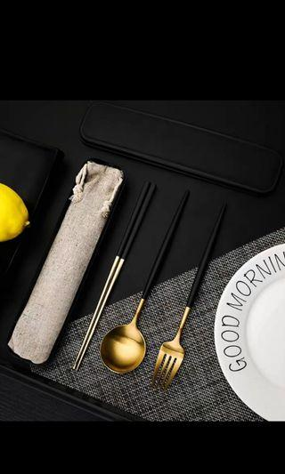 Stainless steel eco cutlery pack