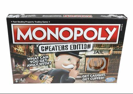 Cheaters Monopoly Board Game
