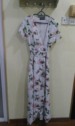 Something borrowed Floral Wrap Dress #CarousellFaster