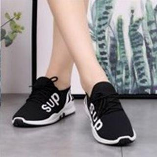 SUP Korean Fashion Light Shoes ( Black)