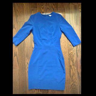 Blue office dress
