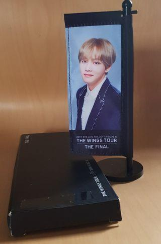 🚚 (wts/instock) bts wings final v // taehyung mini flag