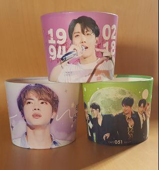 (wts/instock) bts korea cup holders / cupsleeves