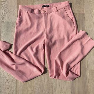AMERICAN APPAREL pink crepe pants