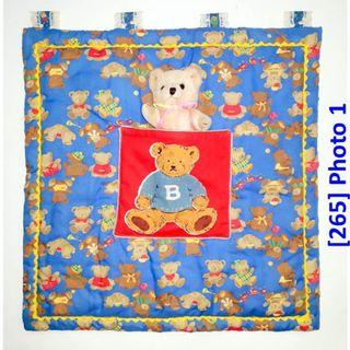 [265] Children Blue Wall Deco with Teddy Bear