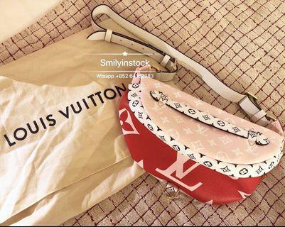 Louis Vuitton BumBag 粉紅拼色腰包